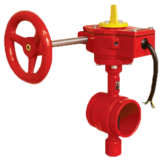 Ref. 141A/07 Butterfly Valve Center Stem Groove Type UL/FM For Fire System