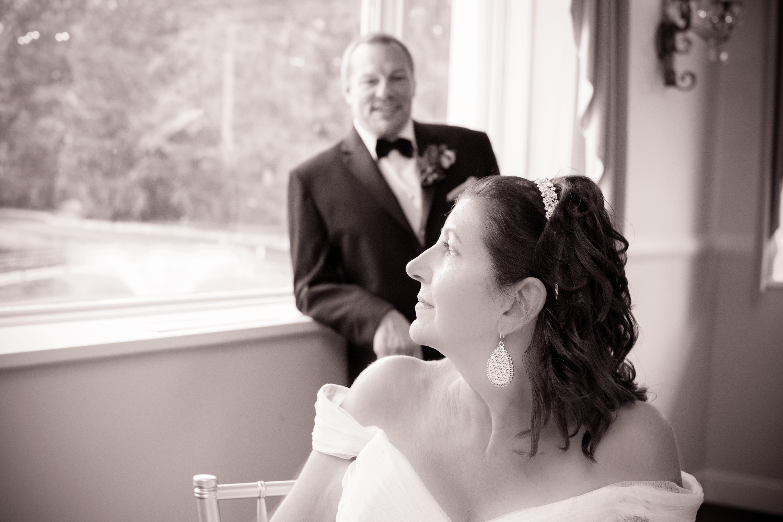 Bride gazing into the future