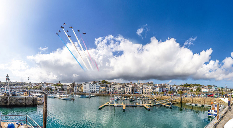 Red Arrows Over St Peter Port - Guernsey