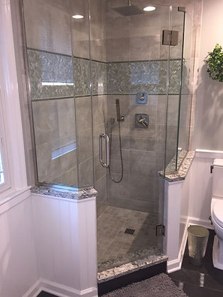 Frameless Neo-Angle Shower Glass Enclosure