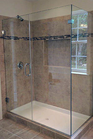 Frameless Shower Enclosure - Full Height Return