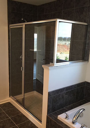 Framed Shower Enclosure - Chrome Hardware Finish
