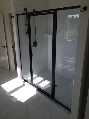 Framed Shower Glass Enclosure - Oil Rubbed Bronze Hardware