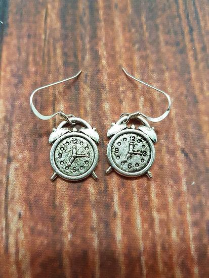 Cute clock earrings