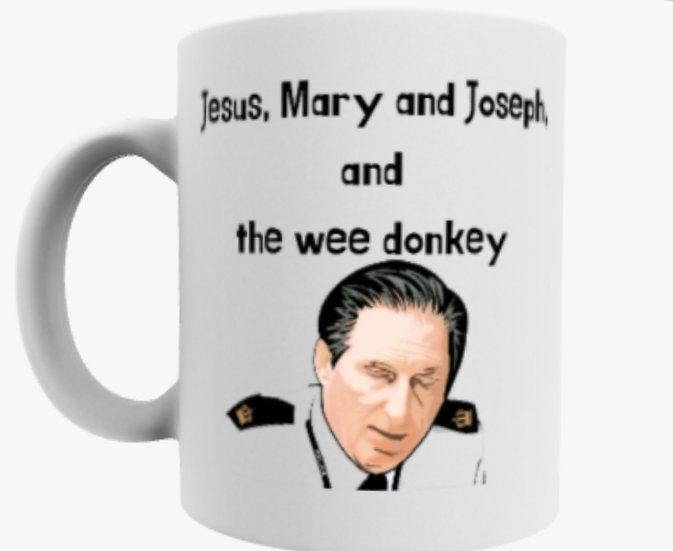 Line of Duty: Jesus Mary and Joseph, and the wee donkey mug