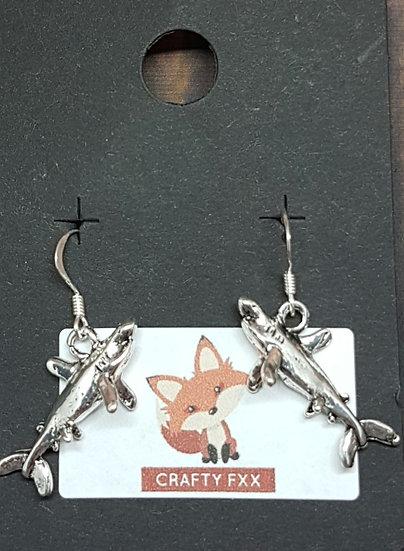 Great white shark earrings