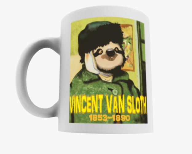 Vincent Van Sloth Mug