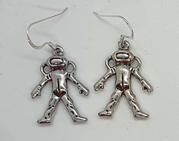 Astronaut/Scuba diver earrings
