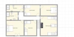Plan du gîte 1er étage