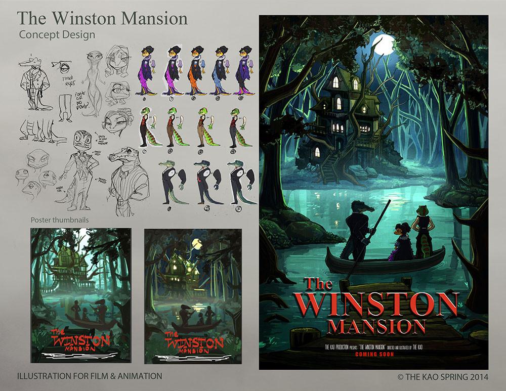 Winston Mansion Poster