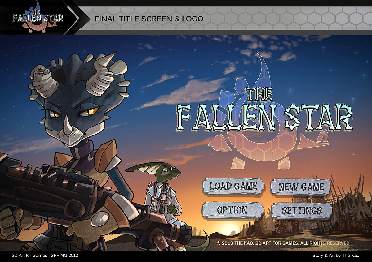The Fallen Star Title Screen