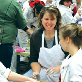 Patty at Empty Bowls event