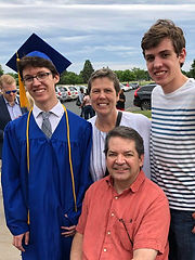 Patty & family at son's 2018 high school graduation