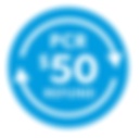 PCR $50 Refund logo