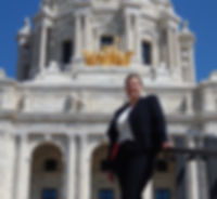 Patty at the Minnesota State Capitol