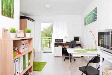 Wohnraum im Students-Lake-House B