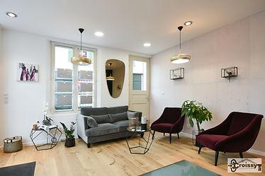Stéphanie Rainaut - Agence d'architecture intérieure et décoration : Projet Agence Immobilière, Rénovation d'espace professionnel, Croissy sur Seine 2018