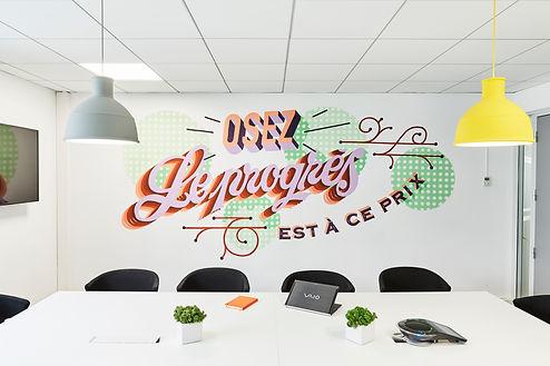 Stéphanie Rainaut - Agence d'architecture intérieure et décoration : Projet Agence de Marketing, aménagement de bureaux de 600m2, Boulogne Billancourt 2016