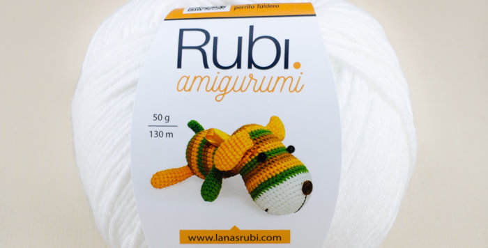 Rubí amigurumi Blanco 100