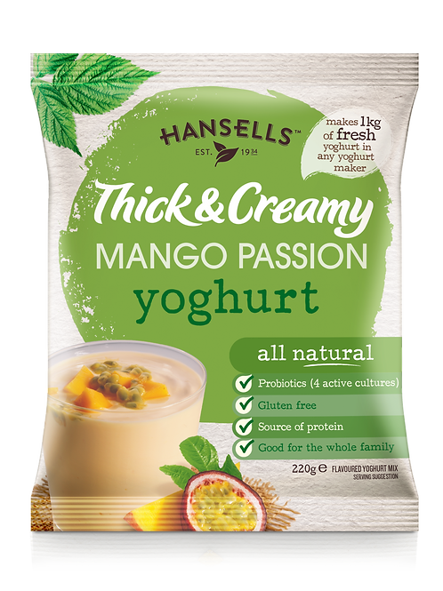 HANSELLS Thick & Creamy Mango and Passion Fruit Yoghurt
