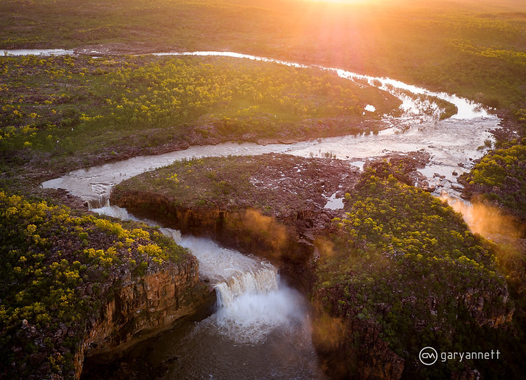 Mitchell-Falls-Sunset-Wet-Season-Waterfa