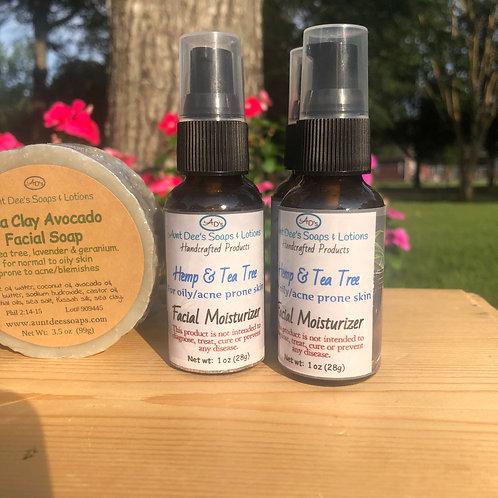 Hemp & Tea Tree (for oily/acne prone face)