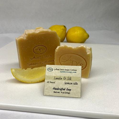 Lemon Silk - Lanolin & Silk Bar