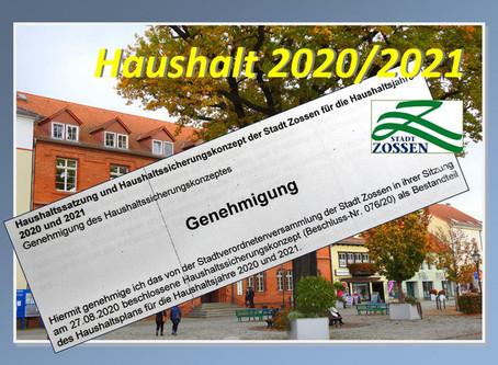 Presseerklärung der Stadt: Haushalt 2020 - 2021 und Sicherungskonzept genehmigt