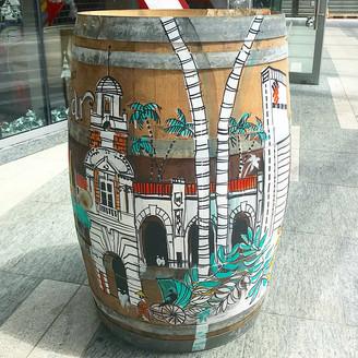 Wine barrell art by Mysquiggles