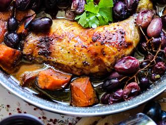 Pečena piletina u umaku od crnog vina