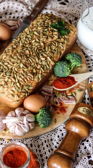 Kruh s rižinim brašnom i domaćim kefirom - Rice flour bread with homemade kefir