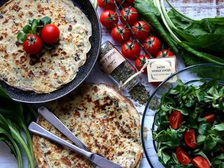 Palačinke s blitvom - Pancakes with Swiss chard