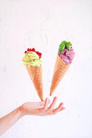 Sladoled s mliječnom domaćim kefirom