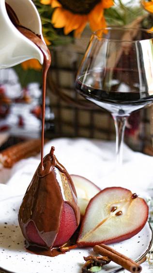 Kruške u kupinovom vinu