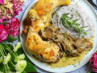 Pile i gljive bukovače za vrhunski ručak! - Chicken and oyster mushrooms for premium lunch!