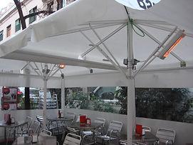 Sansa toldos y parasoles con calefacción incorporada