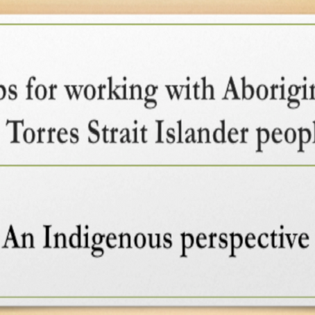 Introducing Series 4: Workers Advice - an Indigenous perspective