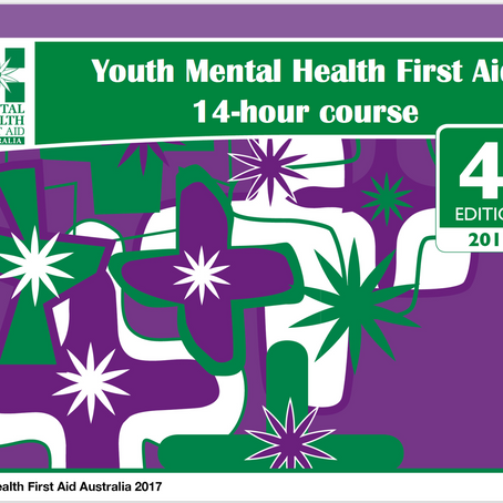 NOW DELIVERING YOUTH MENTAL HEALTH FIRST AID EDITION 4