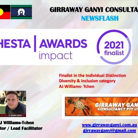 HESTA IMPACT AWARDS 2021 NOMINEE:INDIVIDUAL DISTINCTION                   DIVERSITY & INCLUSION