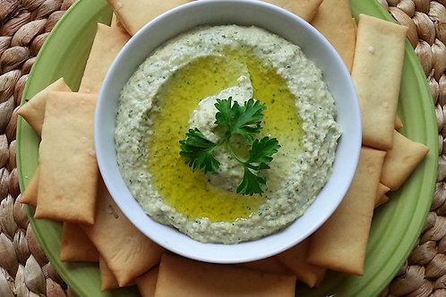 Spinach Cilantro Hummus