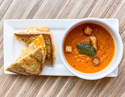 Roasted Tomato Soup & Grilled Cheese