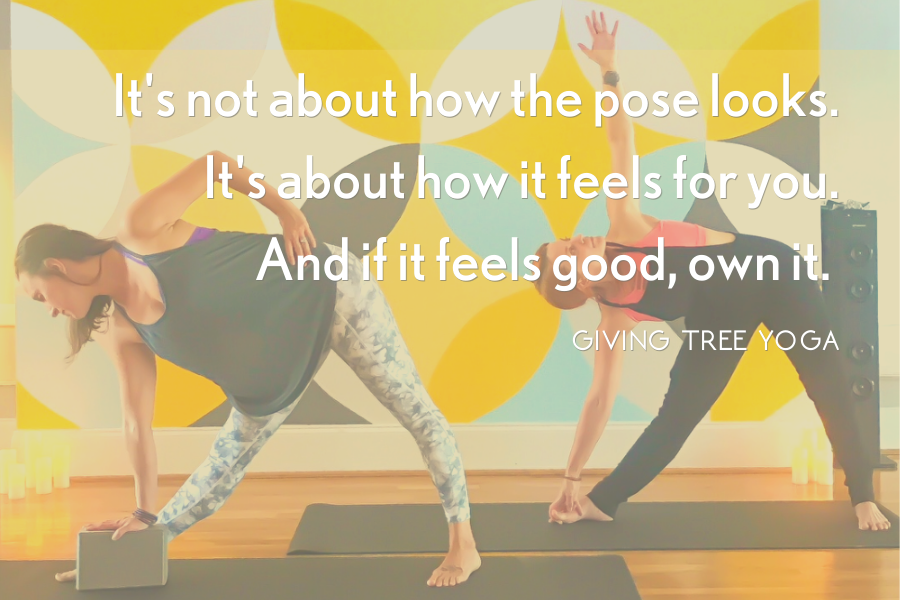 If a pose feels good own it. It's not about how it looks, it's about how it feels.