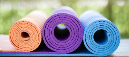 Different sized yoga mats