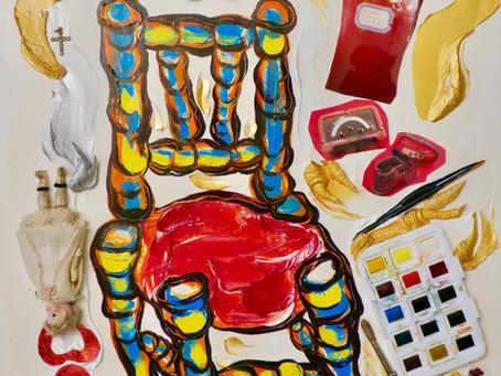 Huile:La Petite Chaise de mon Enfance.
