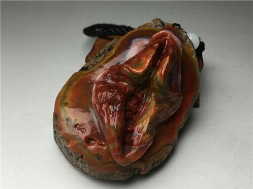 Extraordinaire Agate sculptée érotique.