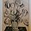 "Thumbnail: Roy LICHTENSTEIN, Impression sérigraphie gouache au pochoir "" Black flowers """