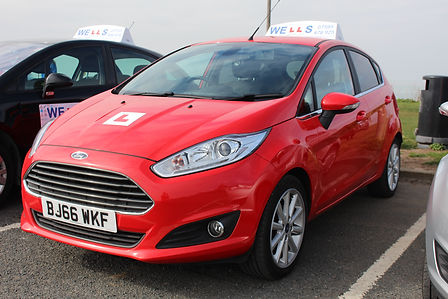 Kylie Eames' Brand new red Ford Fiesta