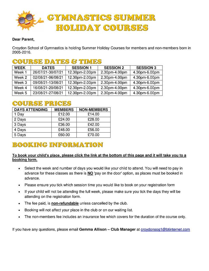 2021 - Summer Holiday Courses WebAdvert.jpg