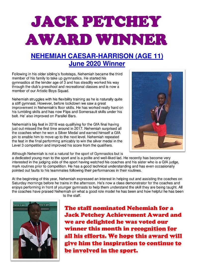 Nehemiah Caesar-Harrison - Jun 2020 Winn