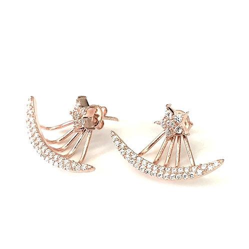 Ohrringe | Ear Jacket Rose Star
